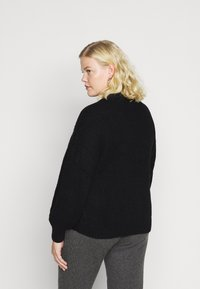 Vero Moda Curve - VMTUFURN  BALLOON NECK  - Jumper - black - 2