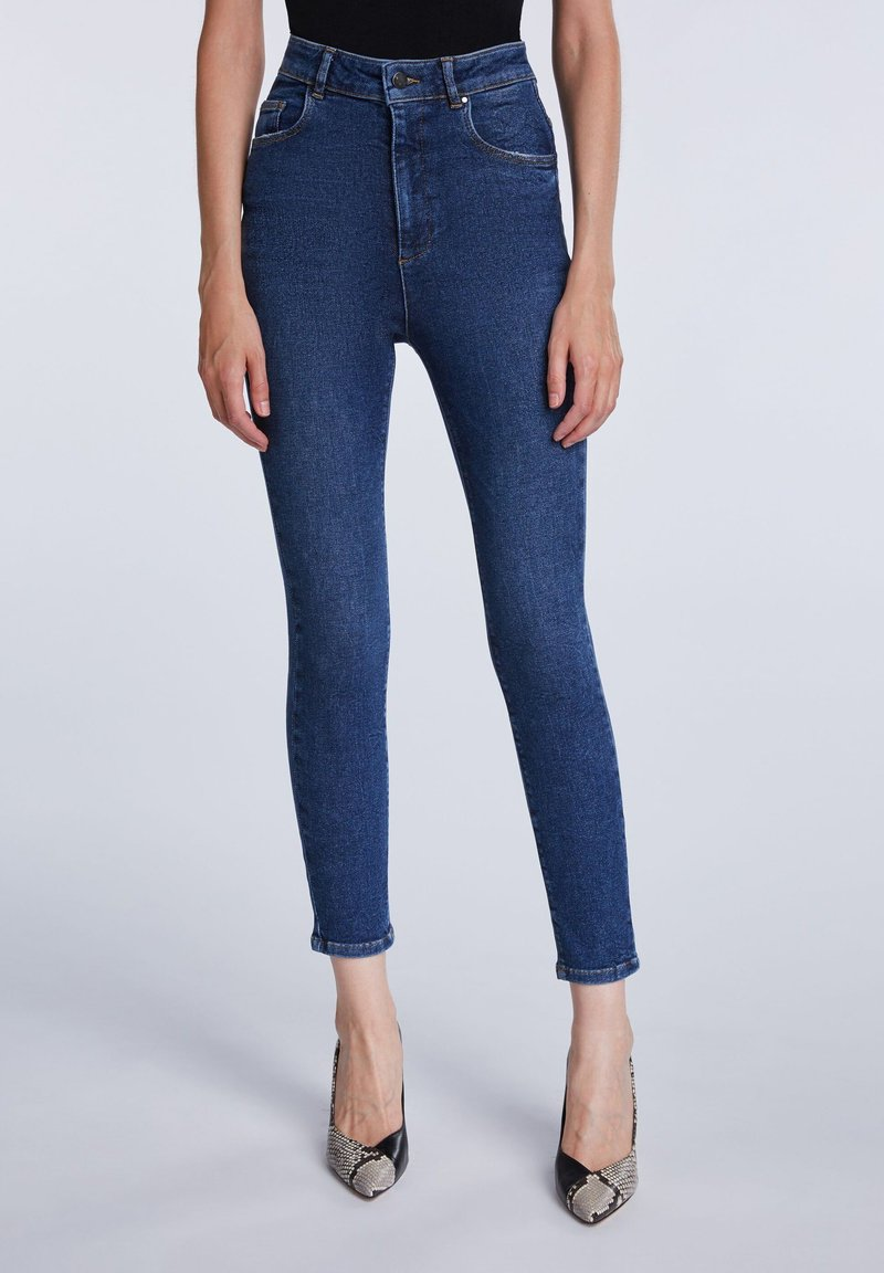 SET - Jeans Skinny Fit - darkblue denim