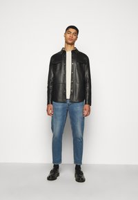 STUDIO ID - LEONARDOS - Leather jacket - black - 1