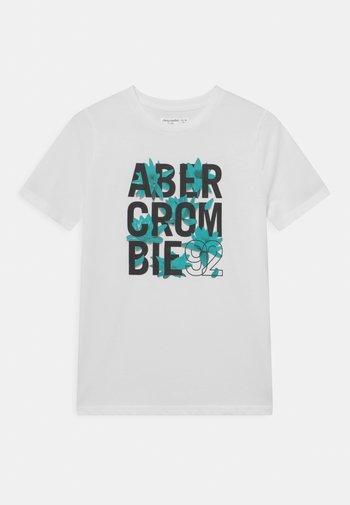 TROPICAL PRINT LOGO  - Print T-shirt - white