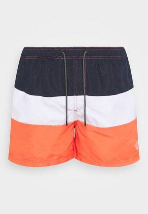 JJIBALI JJSWIMSHORTS COLORBLOCK - Swimming shorts - hot coral