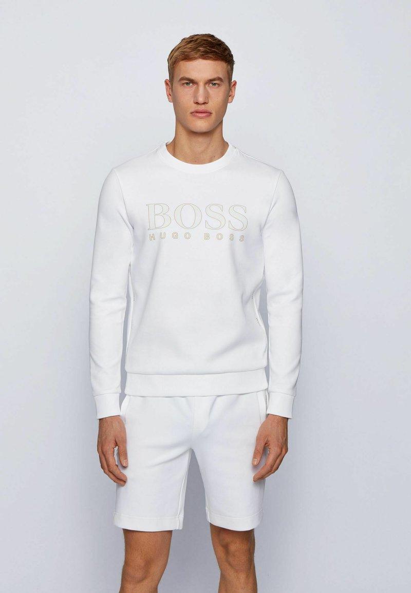 BOSS - SALBO ICONIC - Sweatshirt - white
