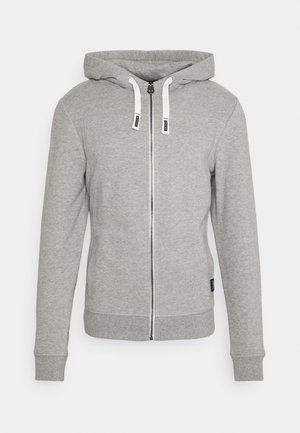 Zip-up hoodie - middle grey melange