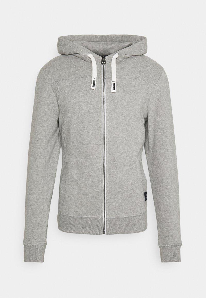 TOM TAILOR - Zip-up hoodie - middle grey melange