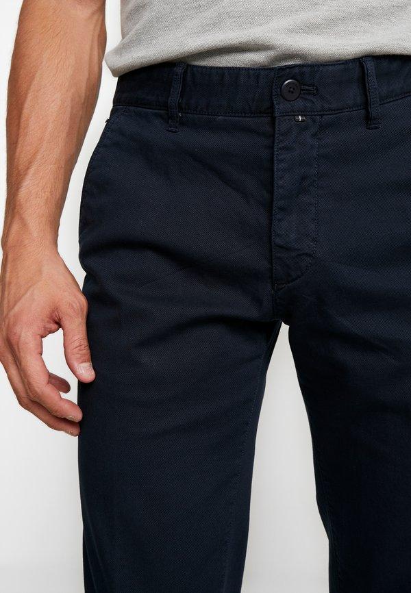 Marc O'Polo DOBBY STRUCTURE - Chinosy - total eclipse/granatowy Odzież Męska PETE