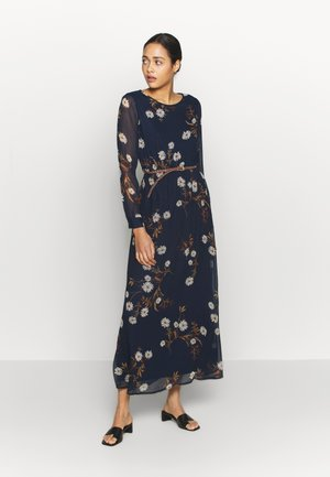 VMCARINA BELT DRESS - Maxikjole - navy