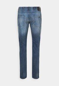 Emporio Armani - POCKETS PANT - Straight leg jeans - blue denim - 1