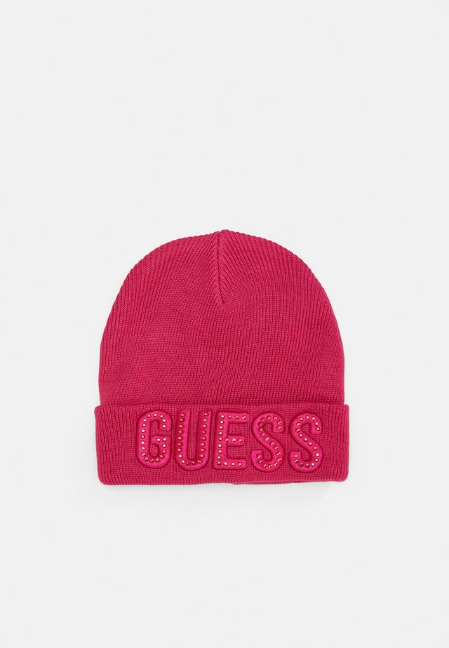 HAT WITH LOGO - Gorro - lava pink/rouge