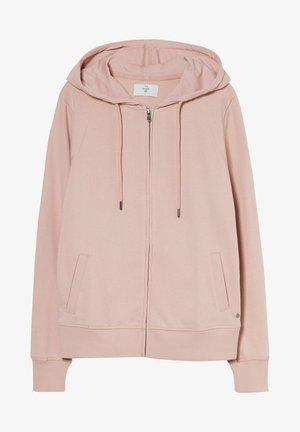 Zip-up sweatshirt - light pink