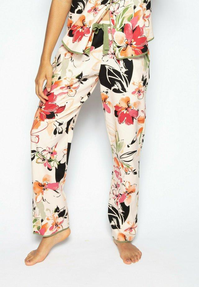 Pyjamahousut/-shortsit - peach floral