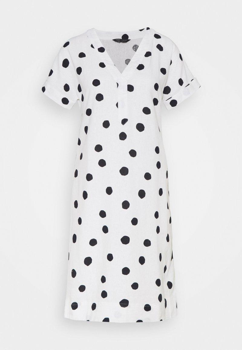 Marks & Spencer London - SPOT SHIFT - Kjole - off-white