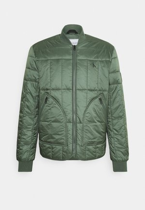 QUILTED LINER JACKET - Bomberjacke - duck green