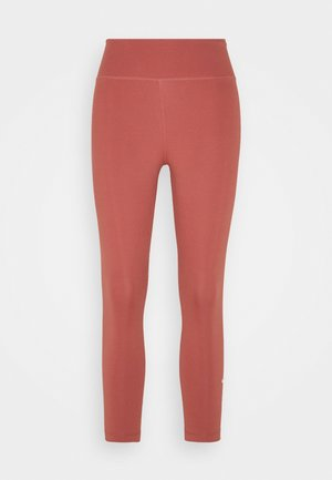 ONE CROP 2.0 - Leggings - canyon rust/white