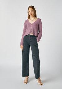PULL&BEAR - Flared Jeans - dark grey - 1