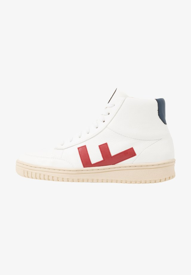 OLD 80'S UNISEX - Sneakers hoog - white/red