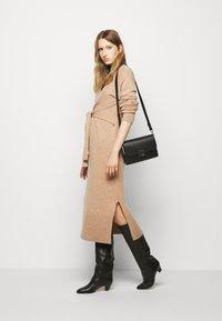 DESIGNERS REMIX - AVA WRAP DRESS - Jumper dress - camel - 1