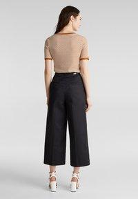 Esprit Collection - HIGH RISE CULOTTE - Trousers - black - 2