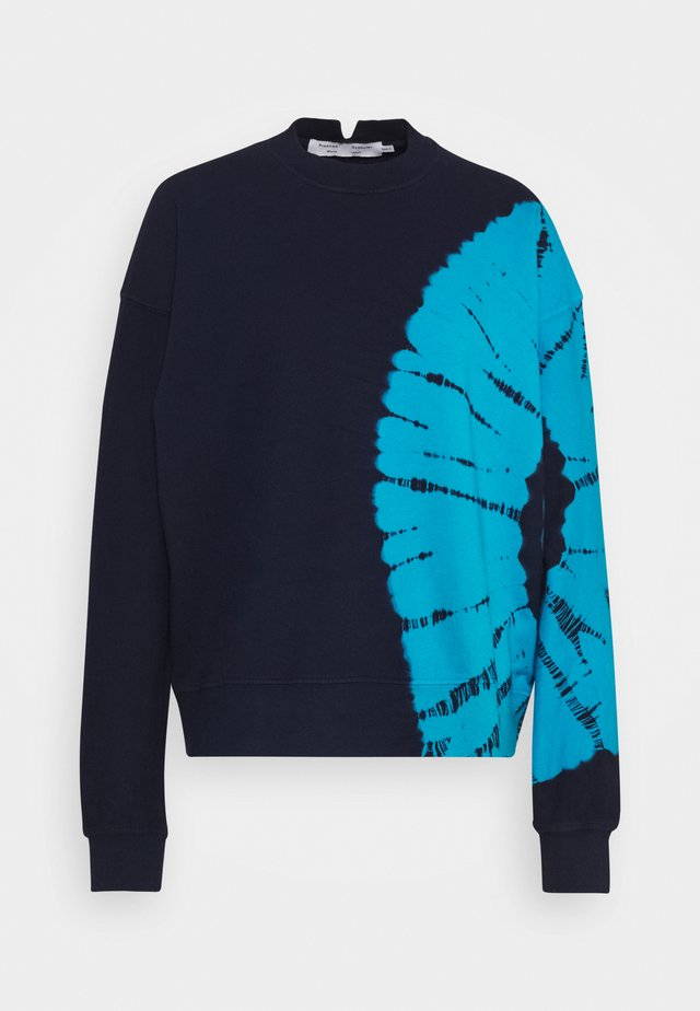 LONG SLEEVE - Felpa - navy/teal tie dye