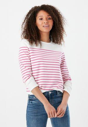 Long sleeved top - cremefarben rosa streifen