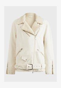 AllSaints - OVERSIZED DENIM BIKER - Denim jacket - white - 2