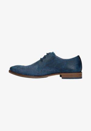 Smart lace-ups - blue