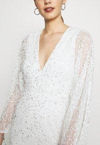 Miss Selfridge - ALL OVER EMBELLISHED MAXI DRESS - Iltapuku - ivory/silver - 6