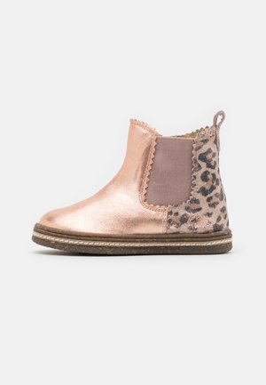 LEATHER - Classic ankle boots - rose gold