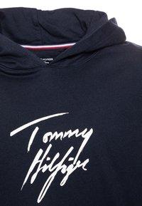 Tommy Hilfiger - HOODIE DRESS - Denní šaty - blue - 2