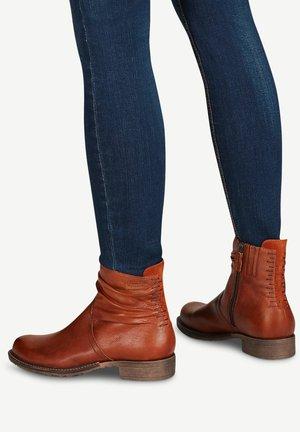 Ankle boots - cognac/b.orang