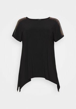 HANKY HEM - T-shirt con stampa - black