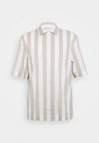 CONVERTIBLE COLLAR WIDE STRIPE - Košile - khaki multi