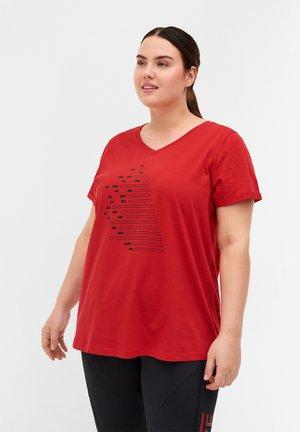 Camiseta estampada - haute red