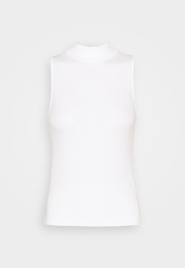 MOCK NECK TANK - Top - natural white