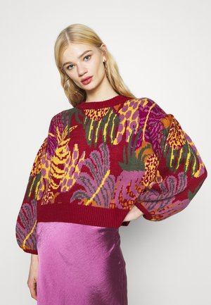 GRAPHIC JUNGLE SWEATER - Pullover - multi