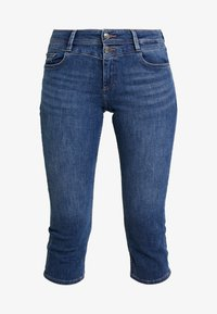 s.Oliver - SHAPE CAPRI - Denim shorts - dark blue denim - 4
