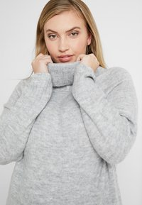 New Look Curves - ROLL NECK JUMPER - Pullover - mid grey - 3