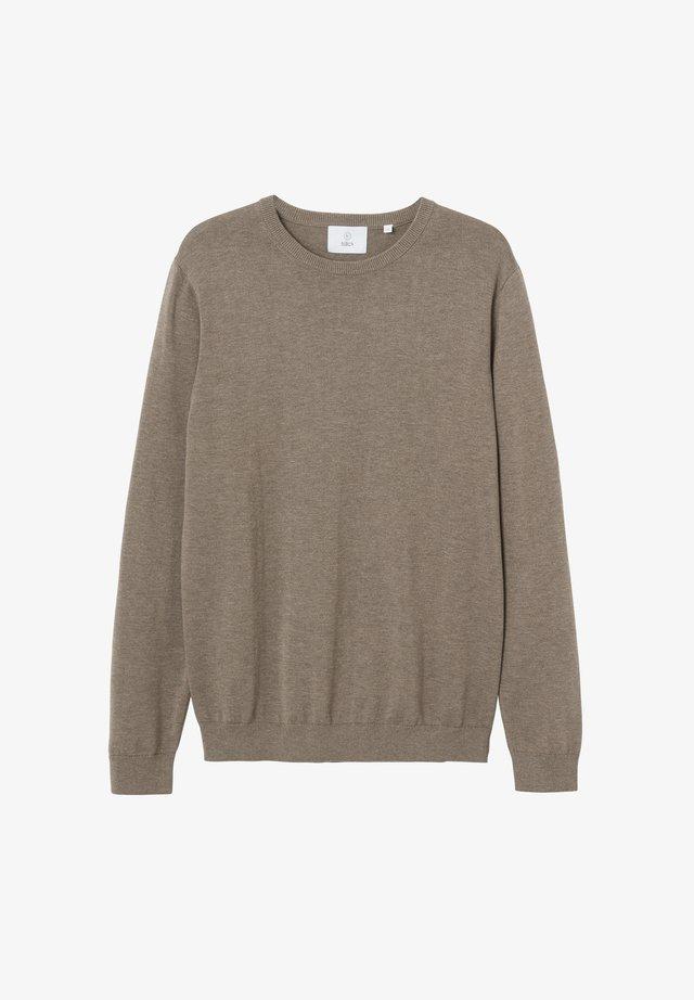 MENTON - Stickad tröja - greige melange