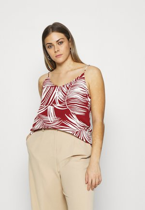 ONLAUGUSTINA SINGLET  - Top - burnt henna/palm leaf