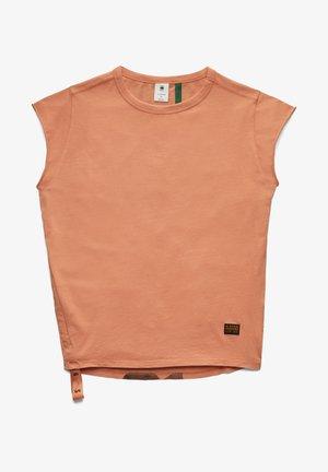 GSRAW KNOT CAP SLEEVE - Basic T-shirt - light paste