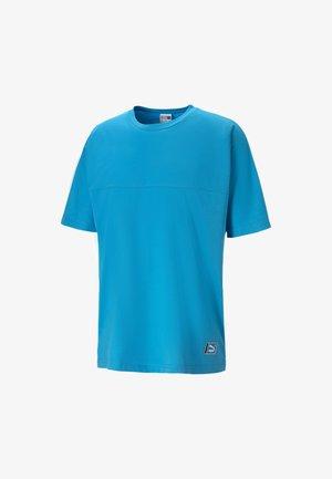 Print T-shirt - atomic blue