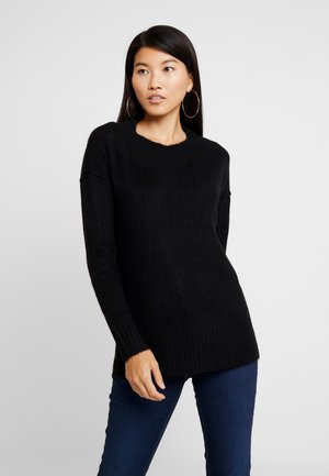 VMLUCI O-NECK LONG - Strikkegenser - black