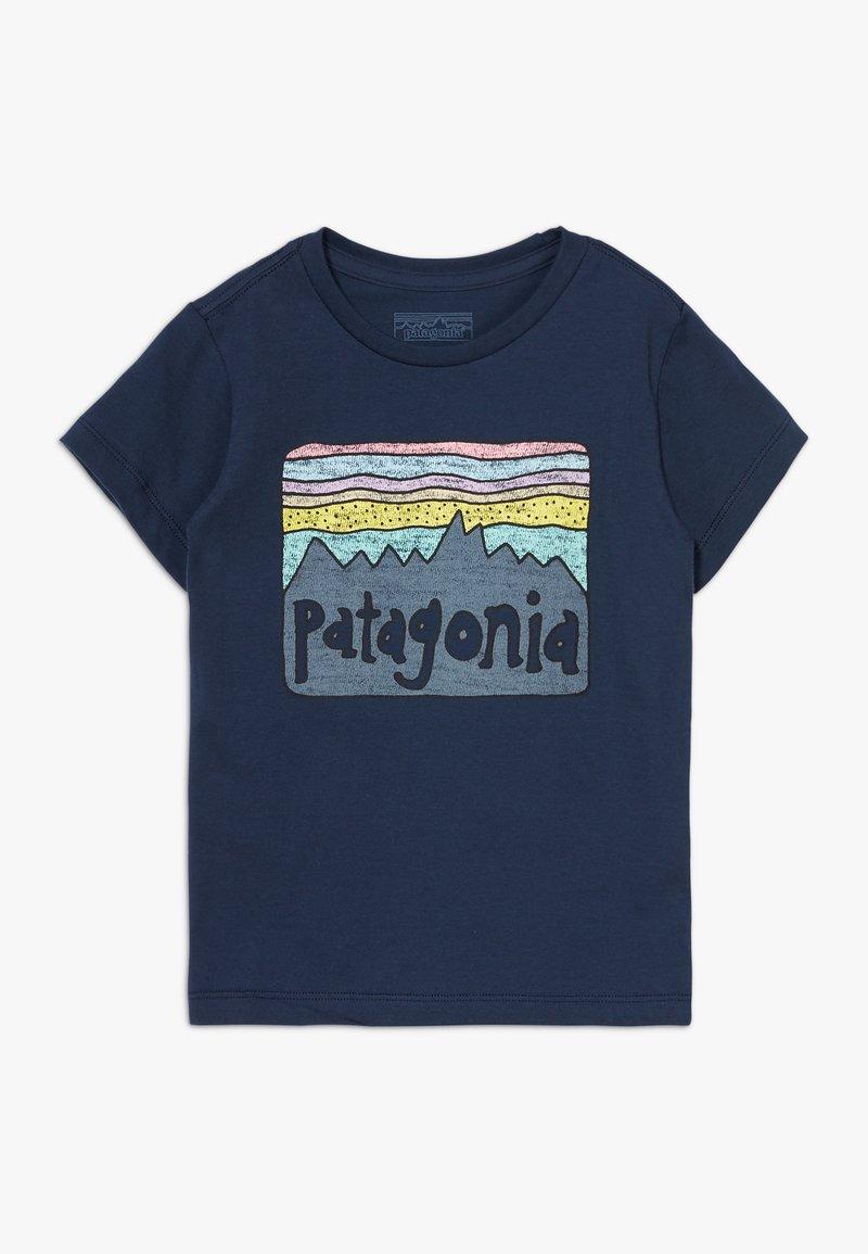 Patagonia - BABY FITZ ROY SKIES UNISEX - Triko spotiskem - new navy