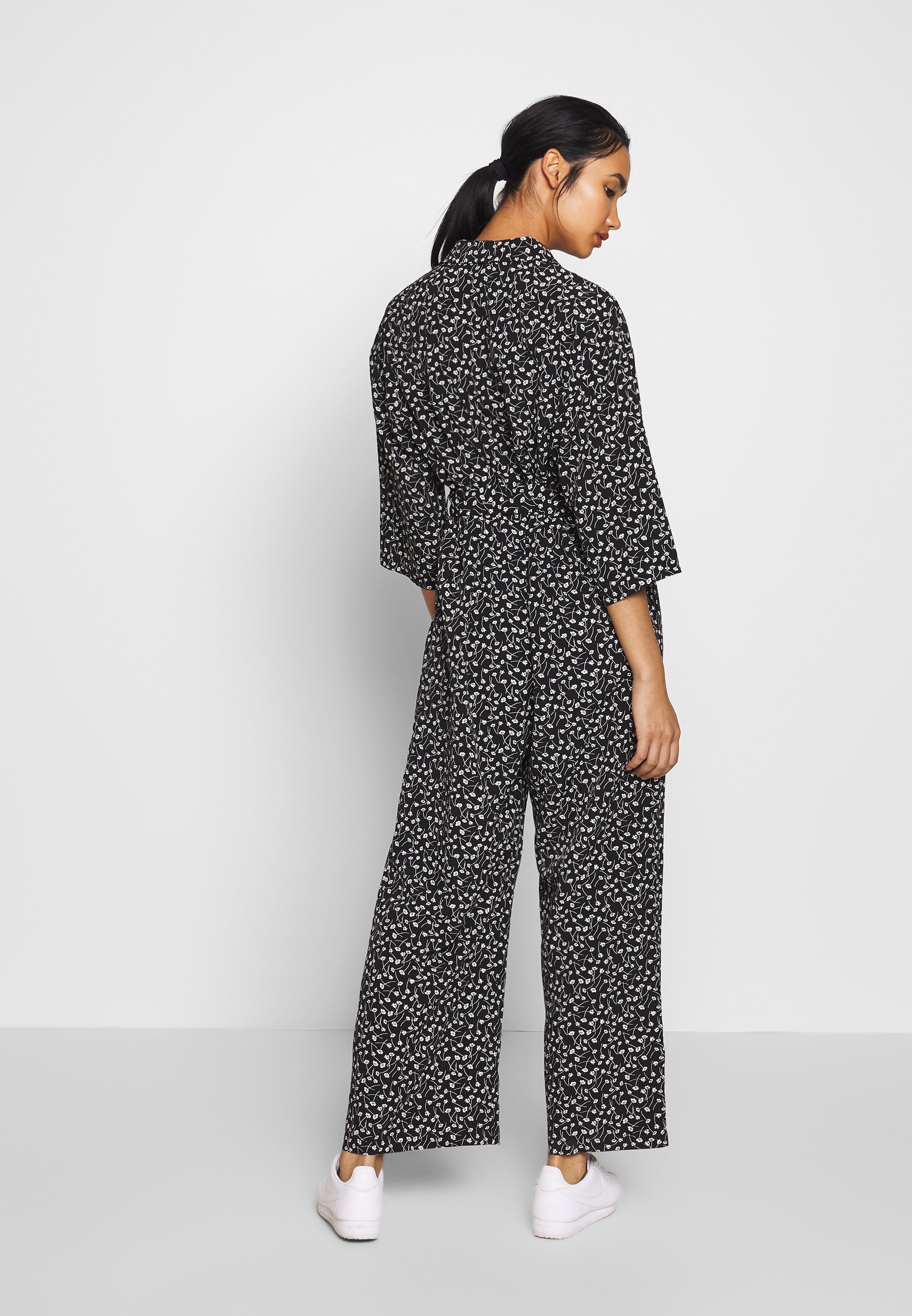 Monki REE - Combinaison - black - Pantalons & Leggings Femme s3blk