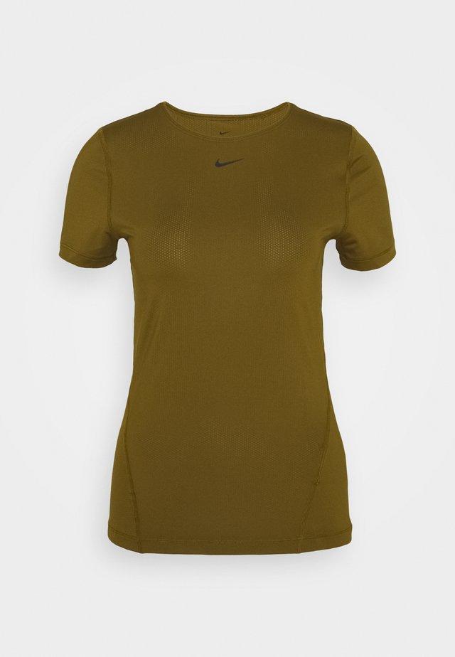 ALL OVER - T-shirt basic - olive flak/black
