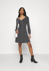 Even&Odd - Vestido ligero - black/multi-coloured - 1