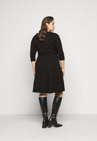 Dorothy Perkins Curve - WRAP DRESS - Day dress - black - 2