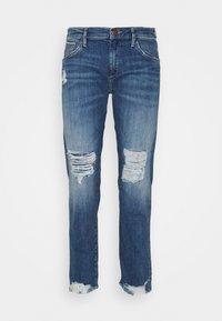 True Religion - LIV BOYFRIEND ROSEGOLD SELVAGE - Slim fit jeans - blue denim - 0