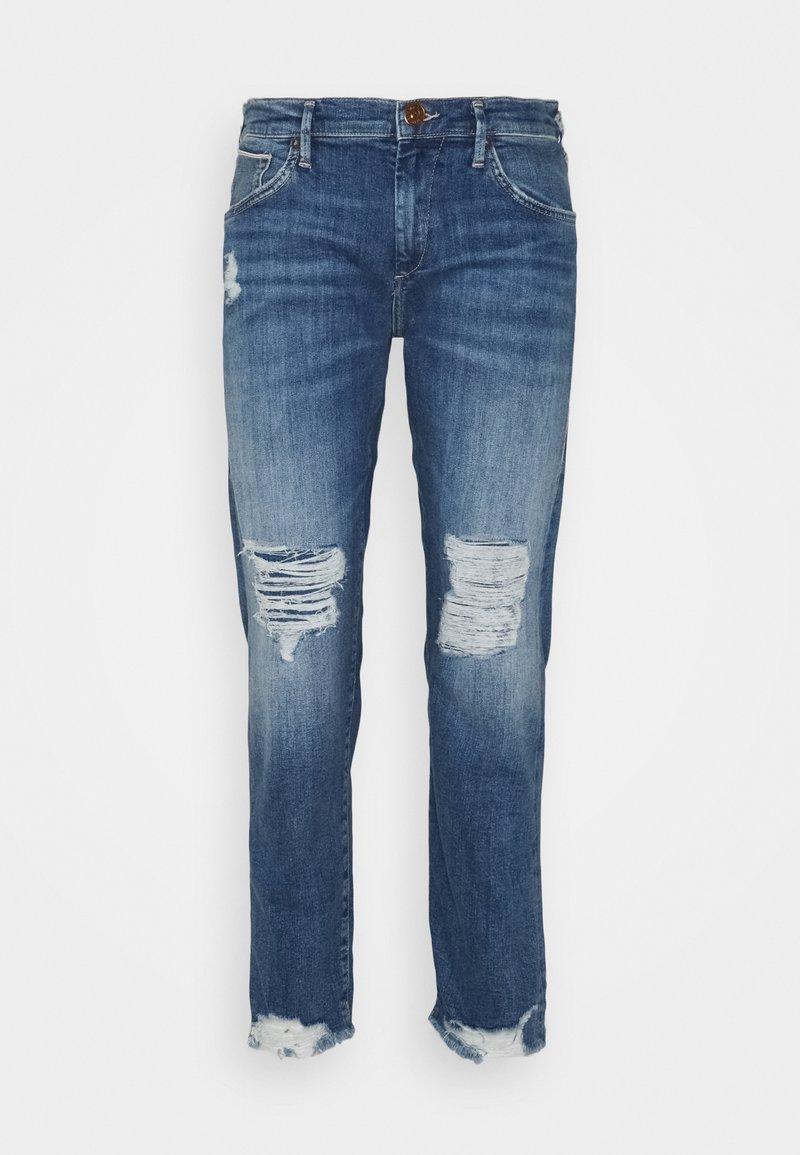 True Religion - LIV BOYFRIEND ROSEGOLD SELVAGE - Slim fit jeans - blue denim