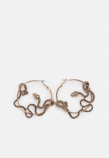 PCCAMRYN EARRINGS - Øredobber - antique gold-coloured