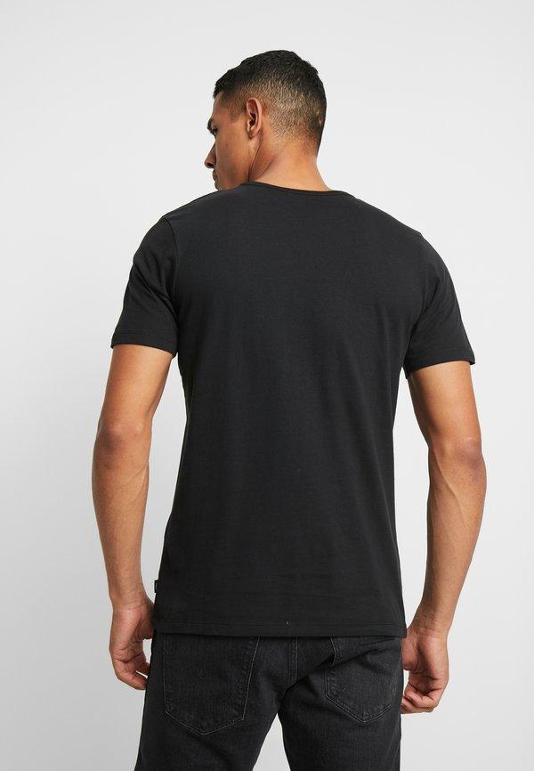 Jack & Jones PREMIUM JPRGARY TEE CREW NECK - T-shirt z nadrukiem - black/czarny Odzież Męska ZFAV
